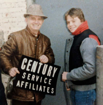 Abe and steve with Century Sign