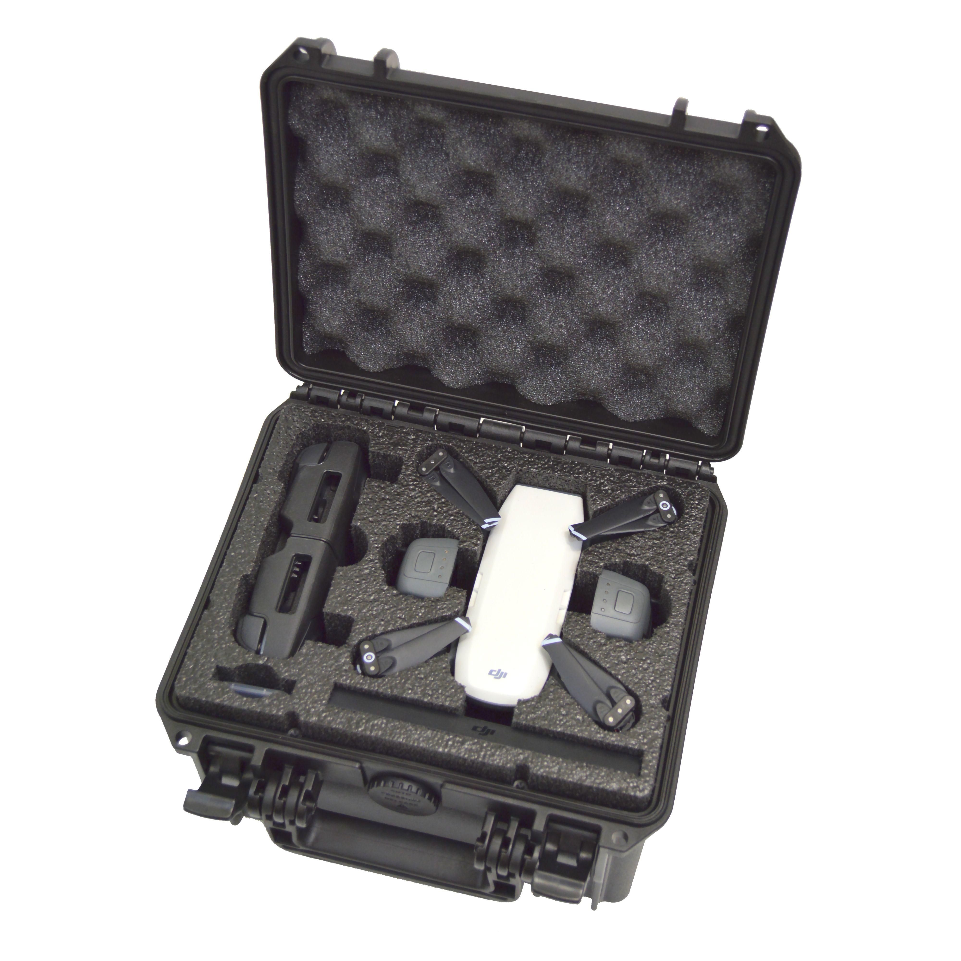DJI Spark dual-level custom foam DORO D0907-6 case - TOP LEVEL