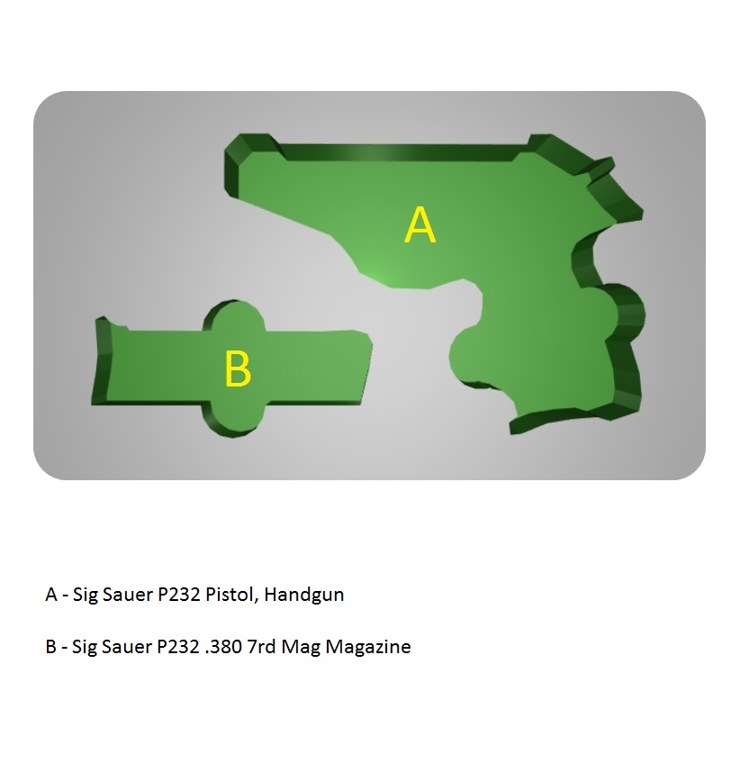 Sig Sauer P232 Custom Pistol Case - Pelican 1170