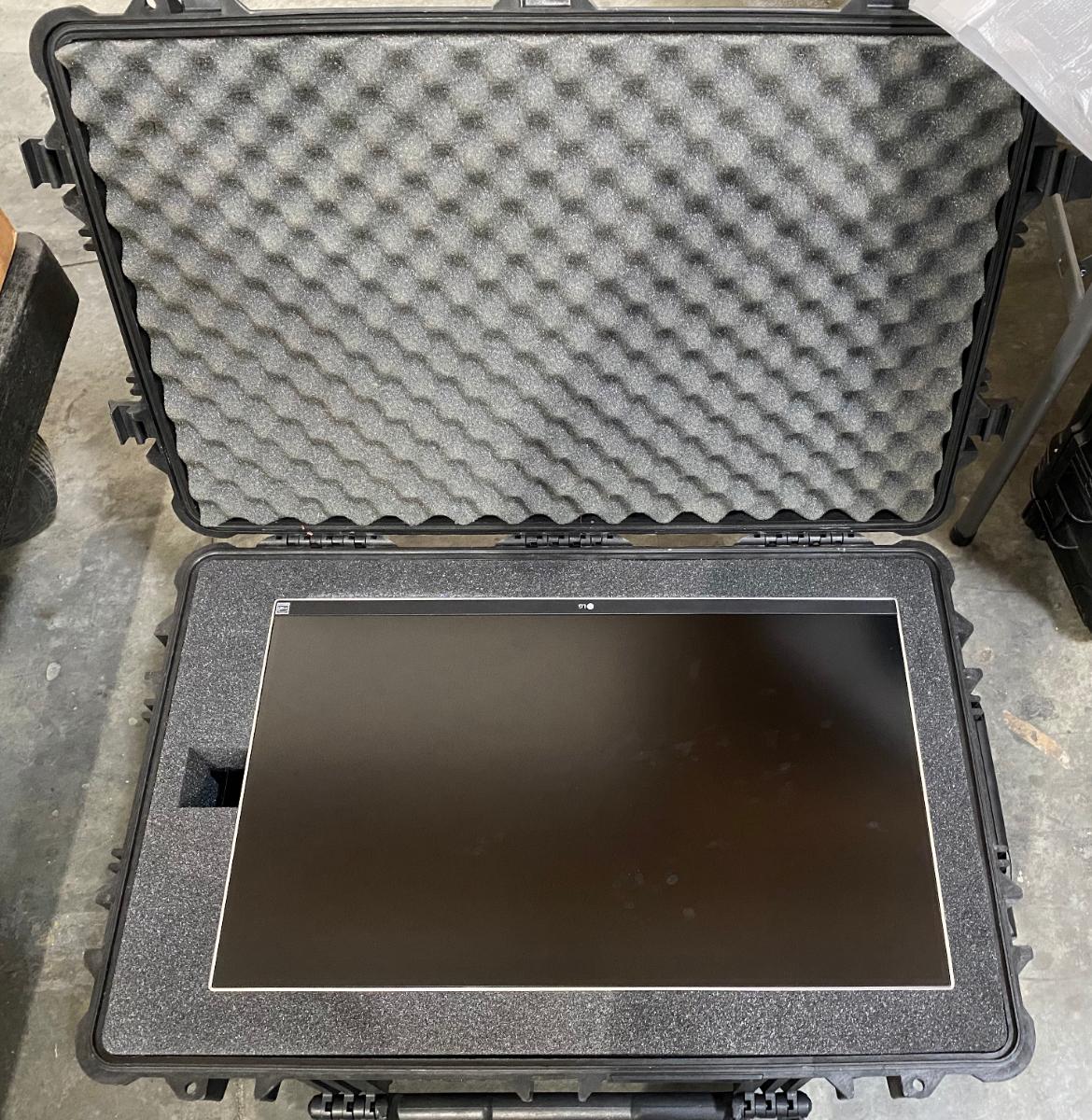 "LG 27"" LCD in Pelican 1650 / Storm 29500"