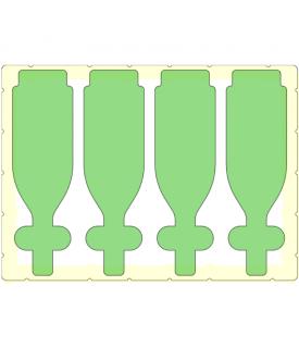 4 Bottles in a Doro D1813-4 Case0